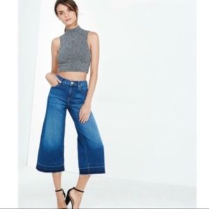 EXPRESS Culottes High Rise Released Hem Jeans